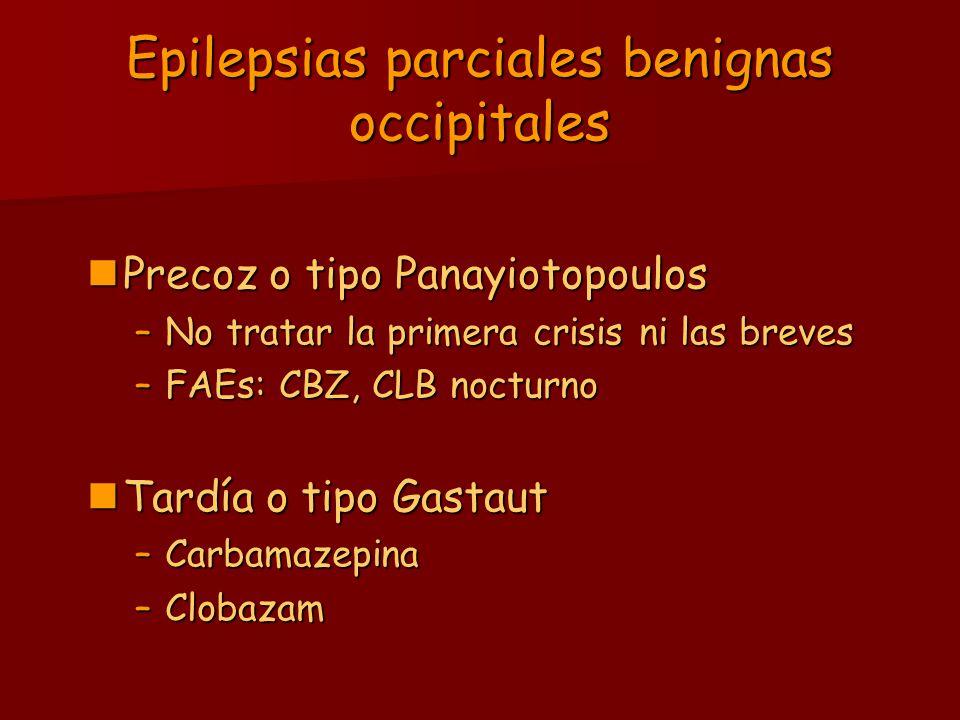 Epilepsias parciales benignas occipitales