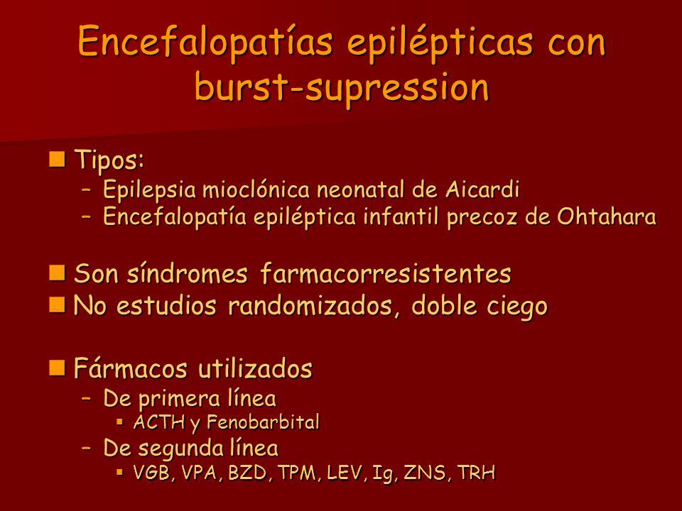 Encefalopatías epilépticas con burst-supression