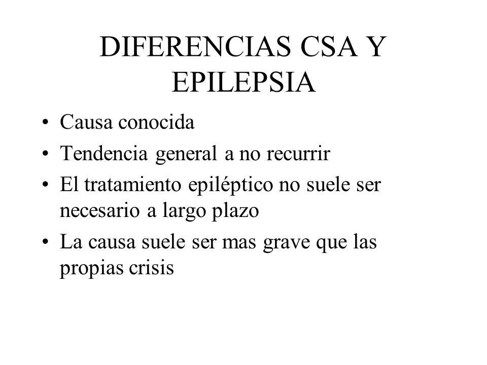 DIFERENCIAS CSA Y EPILEPSIA