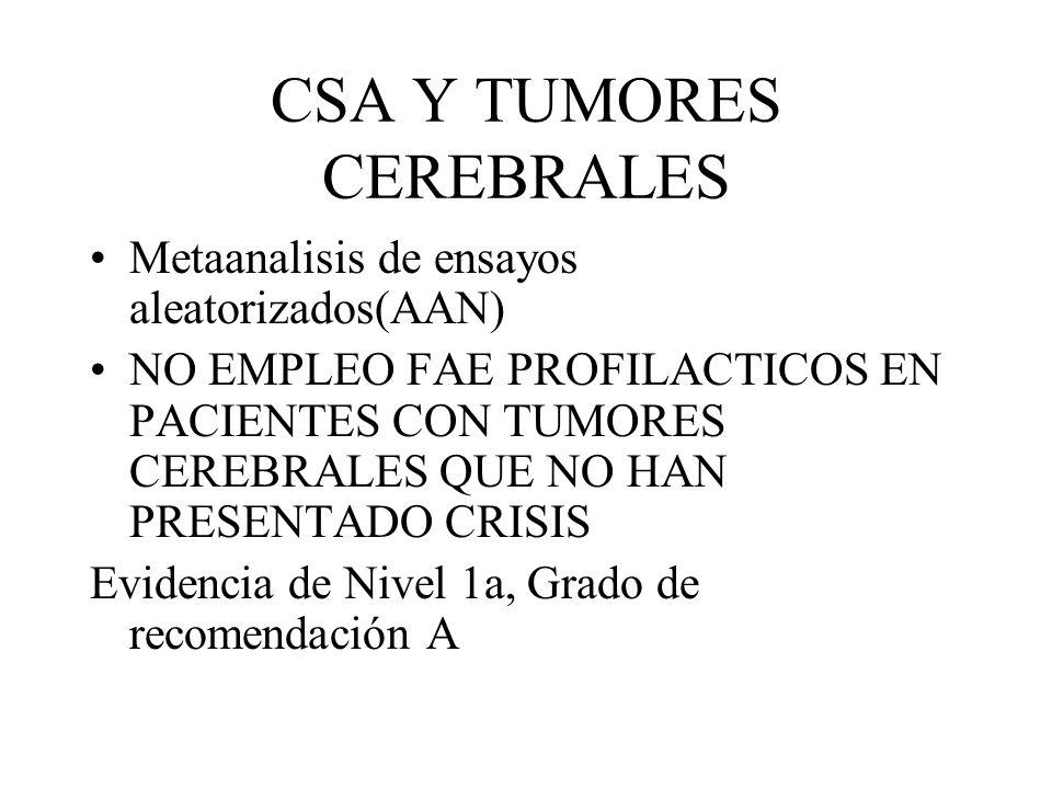 CSA Y TUMORES CEREBRALES
