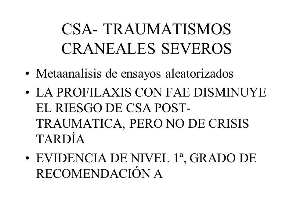 CSA- TRAUMATISMOS CRANEALES SEVEROS