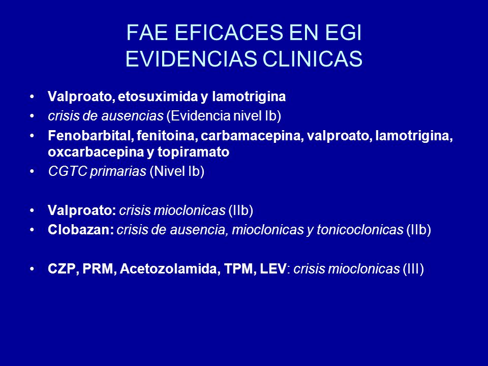 FAE EFICACES EN EGI EVIDENCIAS CLINICAS