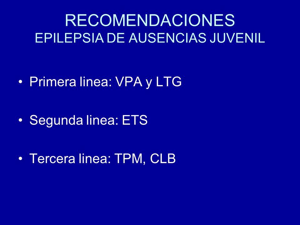 RECOMENDACIONES EPILEPSIA DE AUSENCIAS JUVENIL