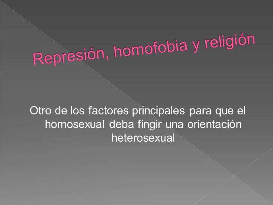 Represión, homofobia y religión