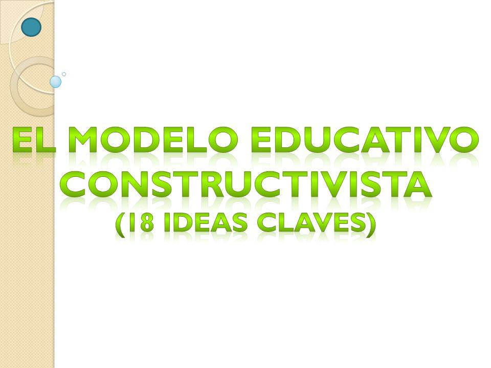 El modelo educativo Constructivista