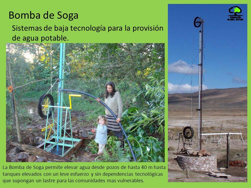 Bomba de Soga Sistemas de baja tecnología para la provisión de agua potable.