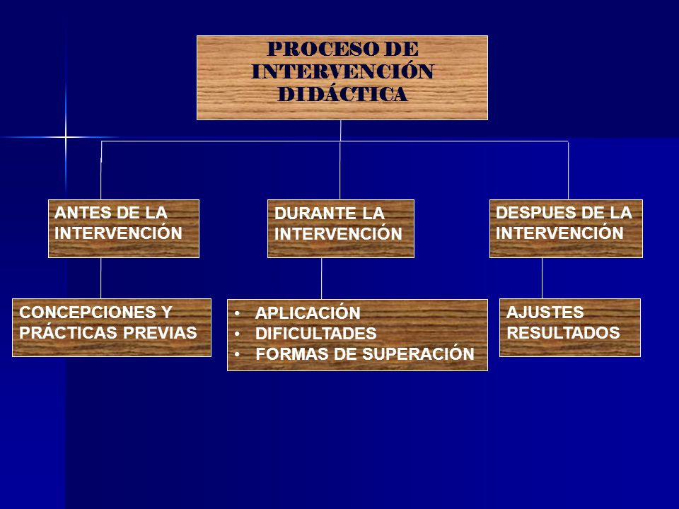 PROCESO DE INTERVENCIÓN DIDÁCTICA