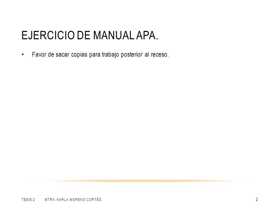 Ejercicio de manual APA.