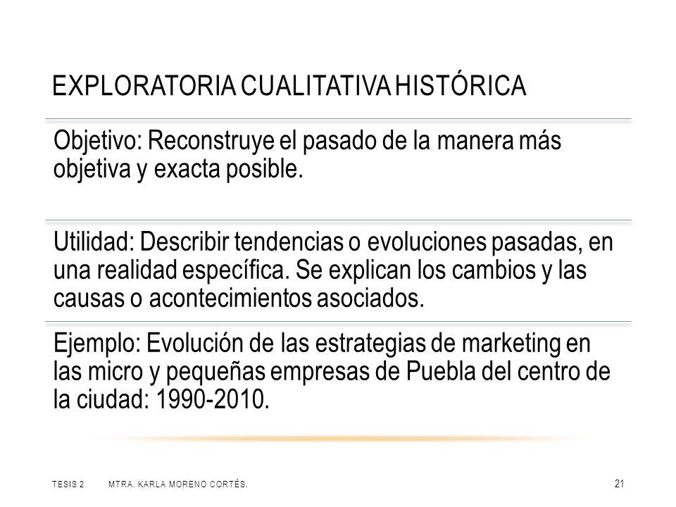 Exploratoria cualitativa histórica