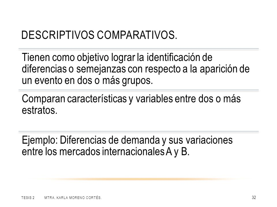 Descriptivos comparativos.