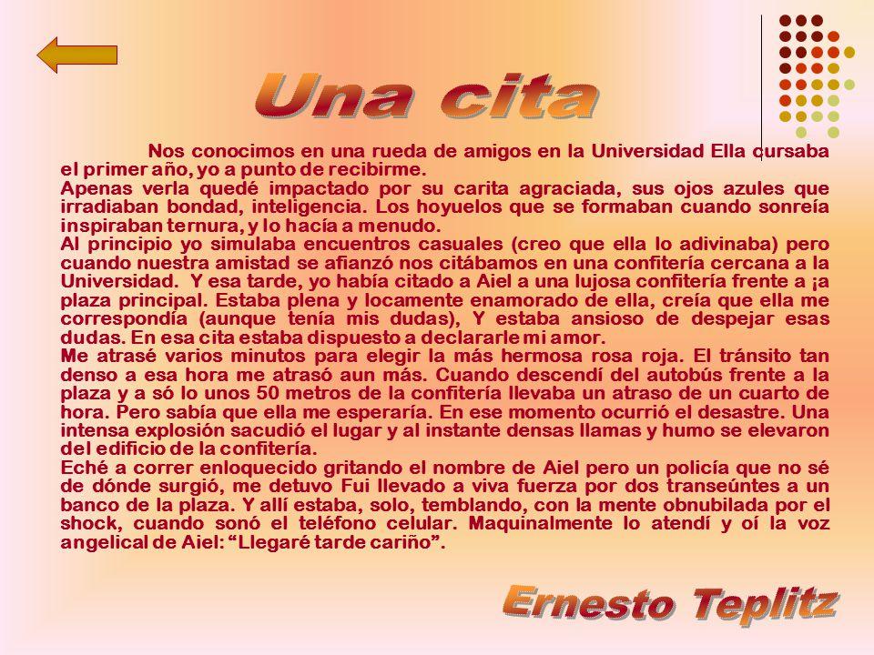 Una cita Ernesto Teplitz