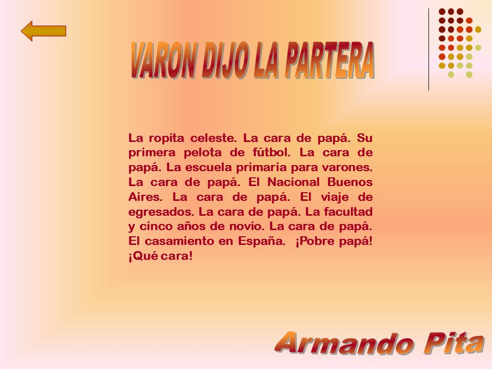 VARON DIJO LA PARTERA Armando Pita