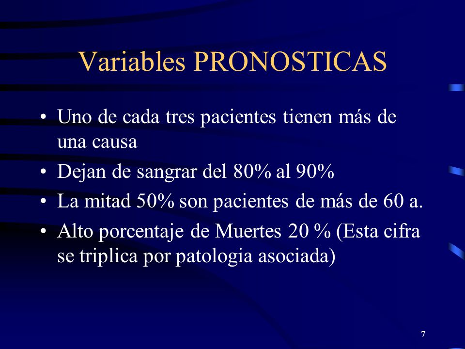 Variables PRONOSTICAS
