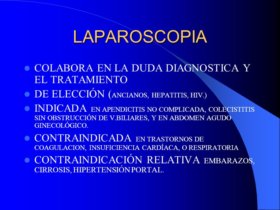 LAPAROSCOPIA COLABORA EN LA DUDA DIAGNOSTICA Y EL TRATAMIENTO
