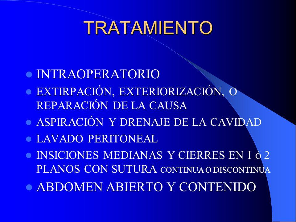 TRATAMIENTO INTRAOPERATORIO ABDOMEN ABIERTO Y CONTENIDO