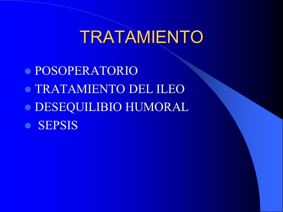 TRATAMIENTO POSOPERATORIO TRATAMIENTO DEL ILEO DESEQUILIBIO HUMORAL