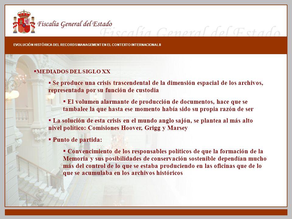 EVOLUCIÓN HISTÓRICA DEL RECORDS MANAGEMENT EN EL CONTEXTO INTERNACIONAL II