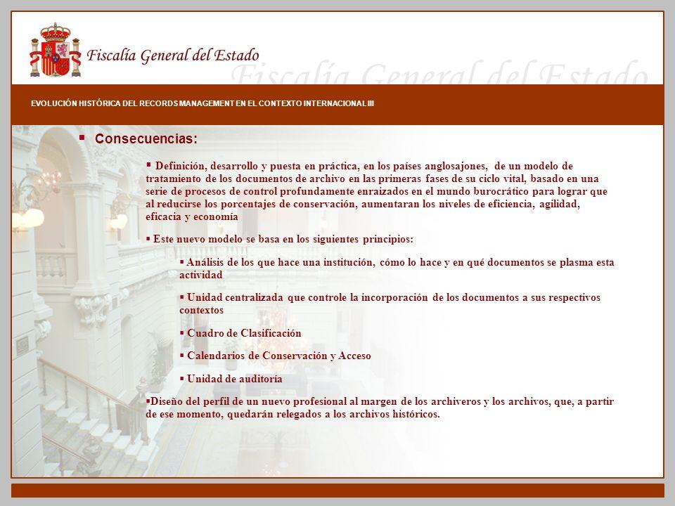 EVOLUCIÓN HISTÓRICA DEL RECORDS MANAGEMENT EN EL CONTEXTO INTERNACIONAL III