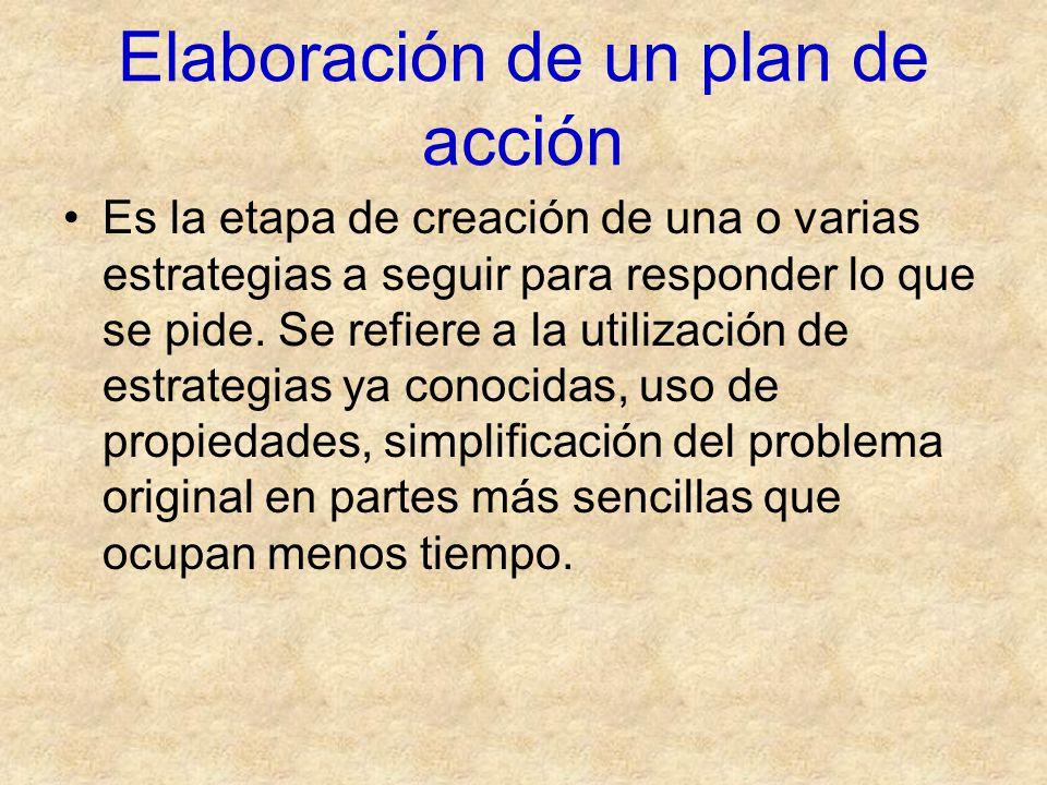 Elaboración de un plan de acción