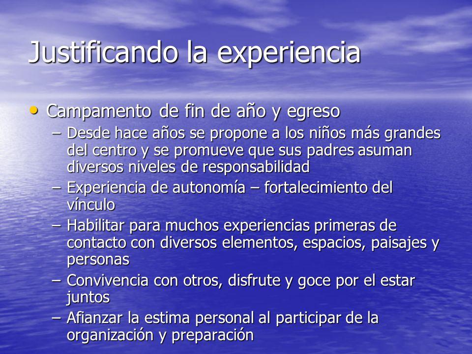 Justificando la experiencia