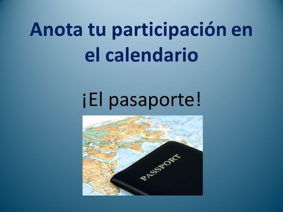 Anota tu participación en el calendario