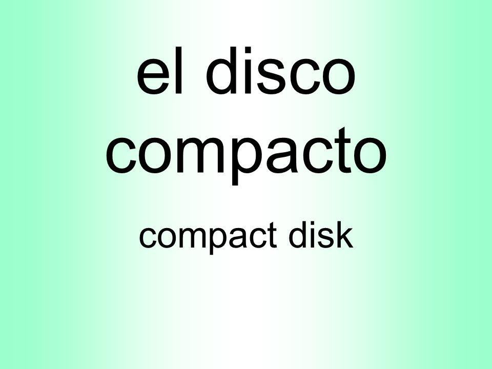 el disco compacto compact disk