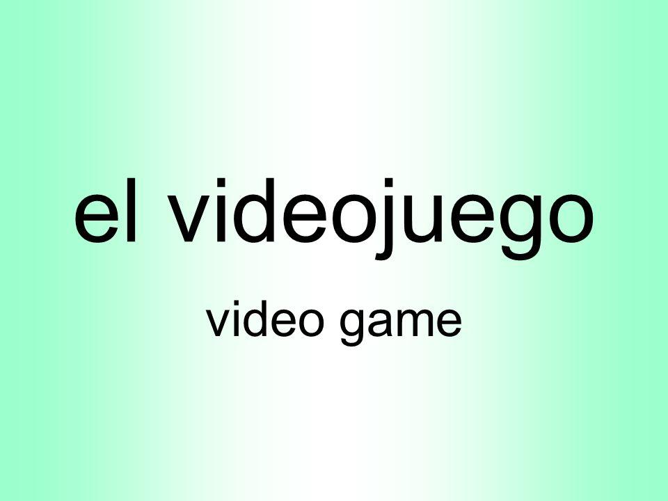 el videojuego video game