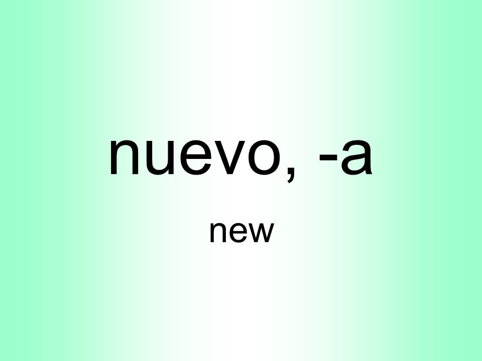 nuevo, -a new