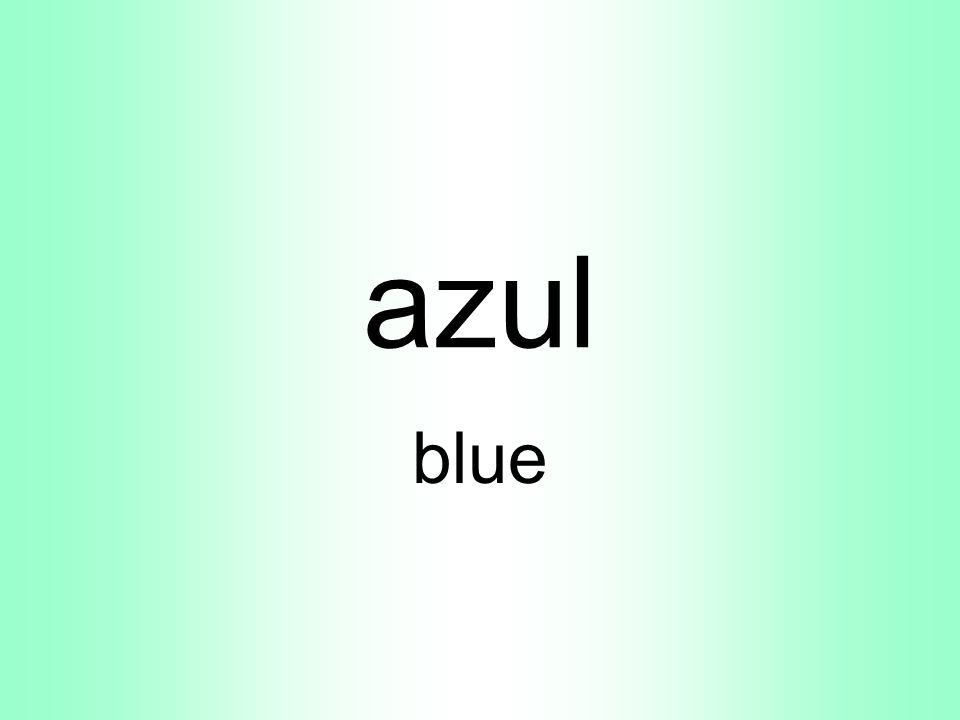 azul blue