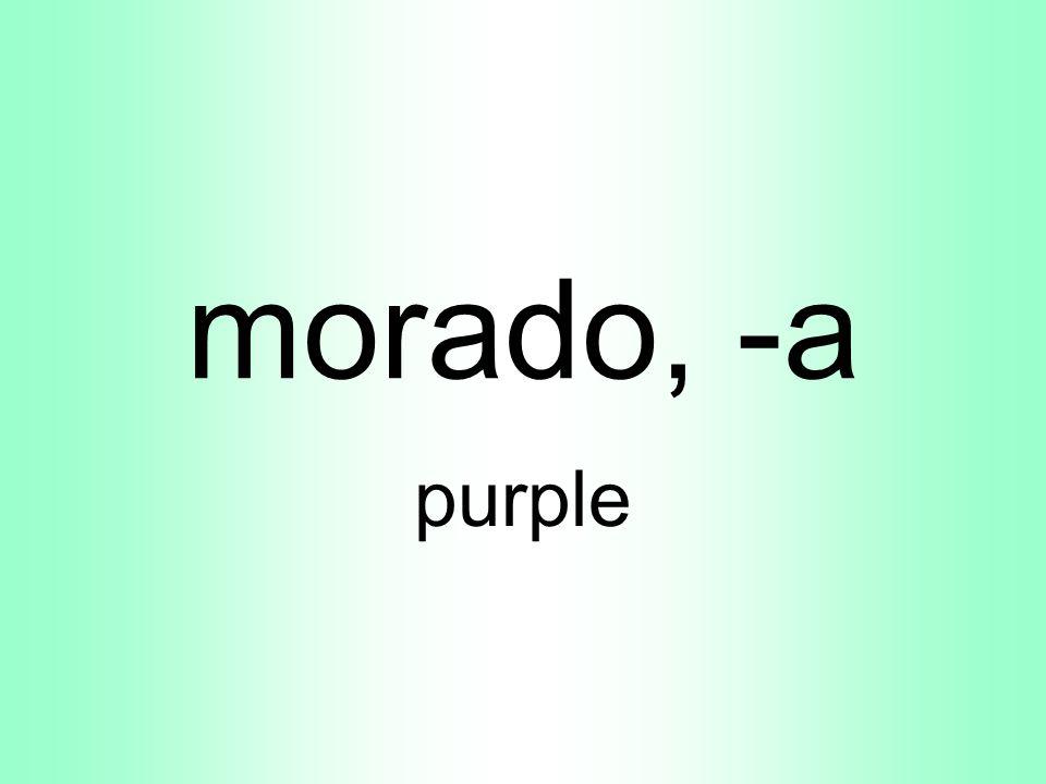 morado, -a purple
