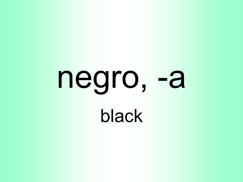 negro, -a black