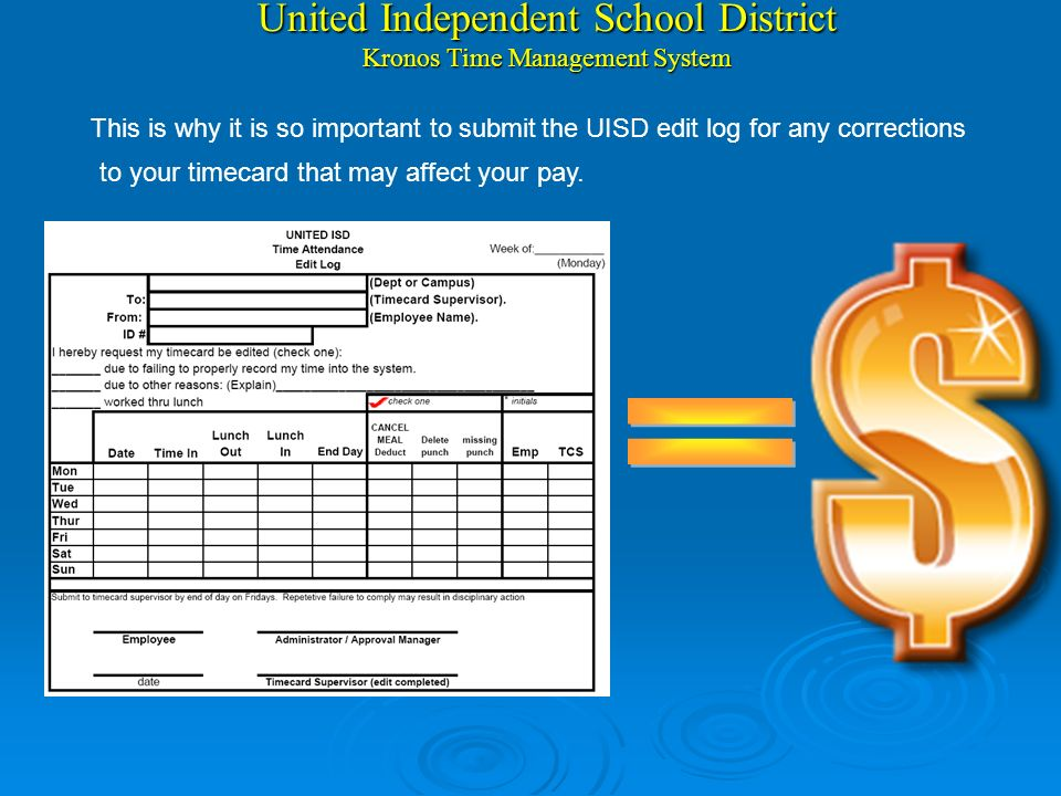 United Independent School District Kronos Time Management System