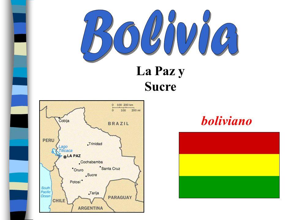 Bolivia La Paz y Sucre boliviano