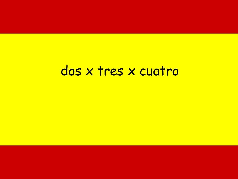 dos x tres x cuatro 2 x 3 x 4 =24