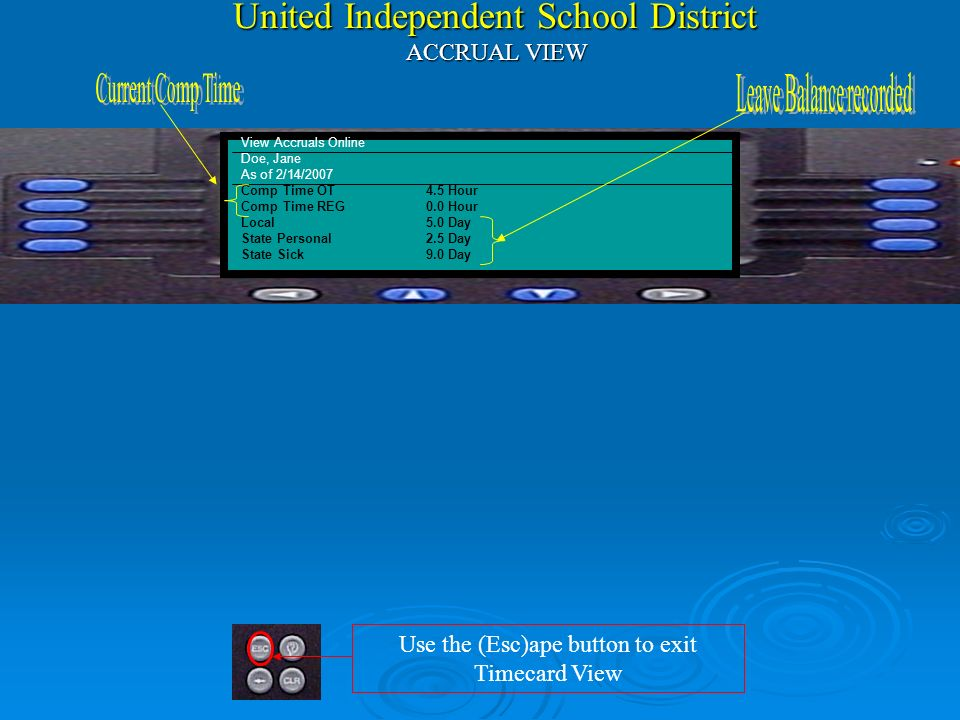 United Independent School District ACCRUAL VIEW
