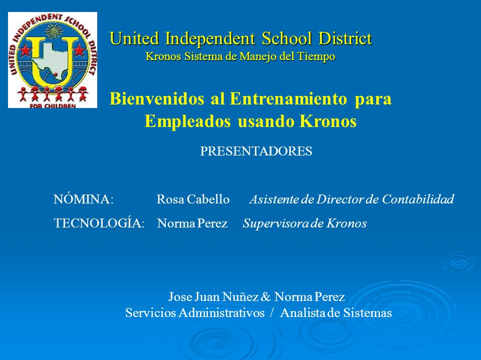 United Independent School District Kronos Sistema de Manejo del Tiempo