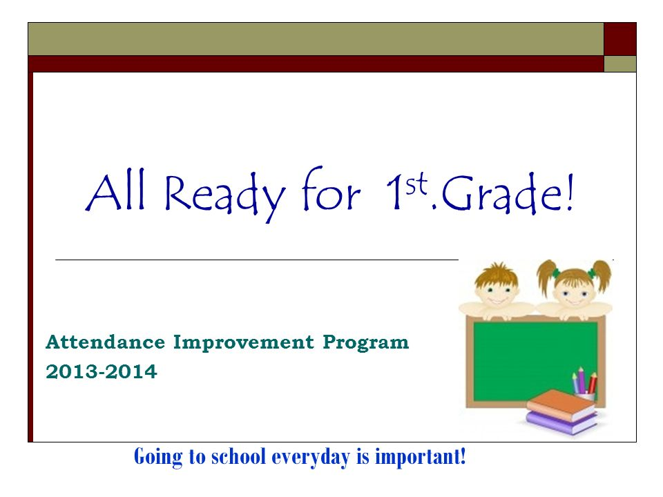 Attendance Improvement Program 2013-2014