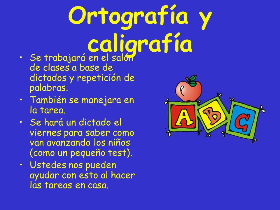 Ortografía y caligrafía
