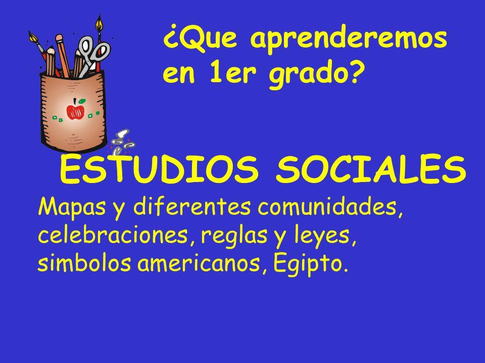 ESTUDIOS SOCIALES ¿Que aprenderemos en 1er grado