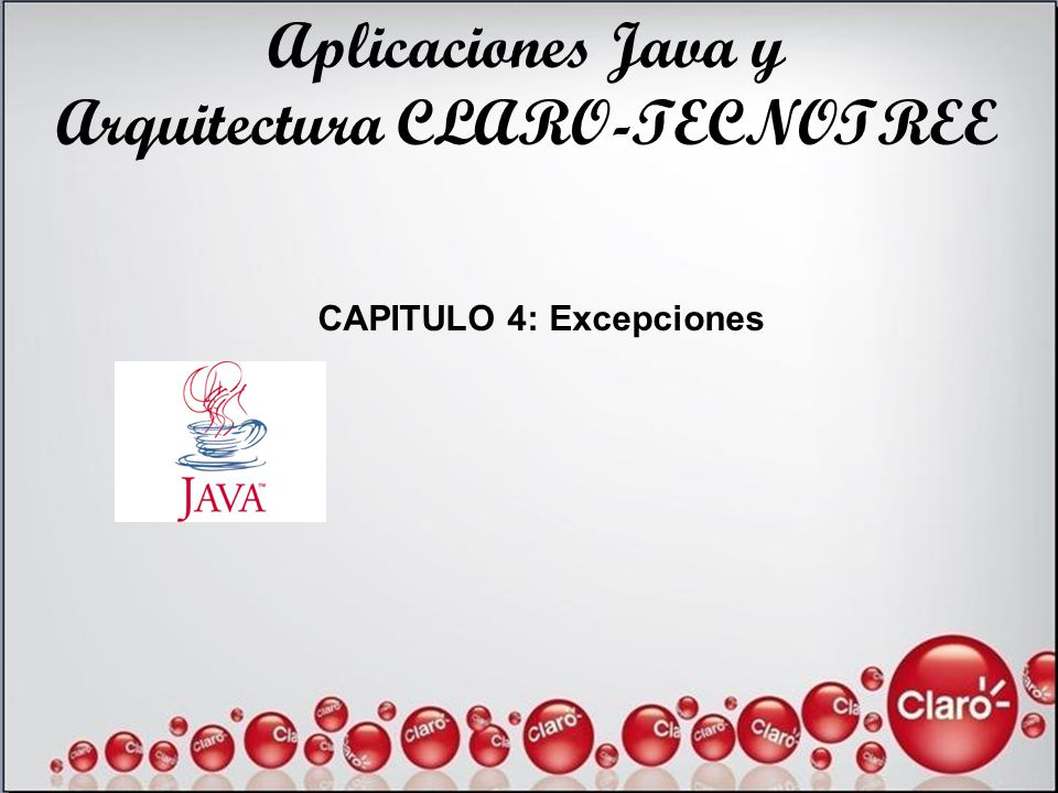 Arquitectura CLARO-TECNOTREE CAPITULO 4: Excepciones
