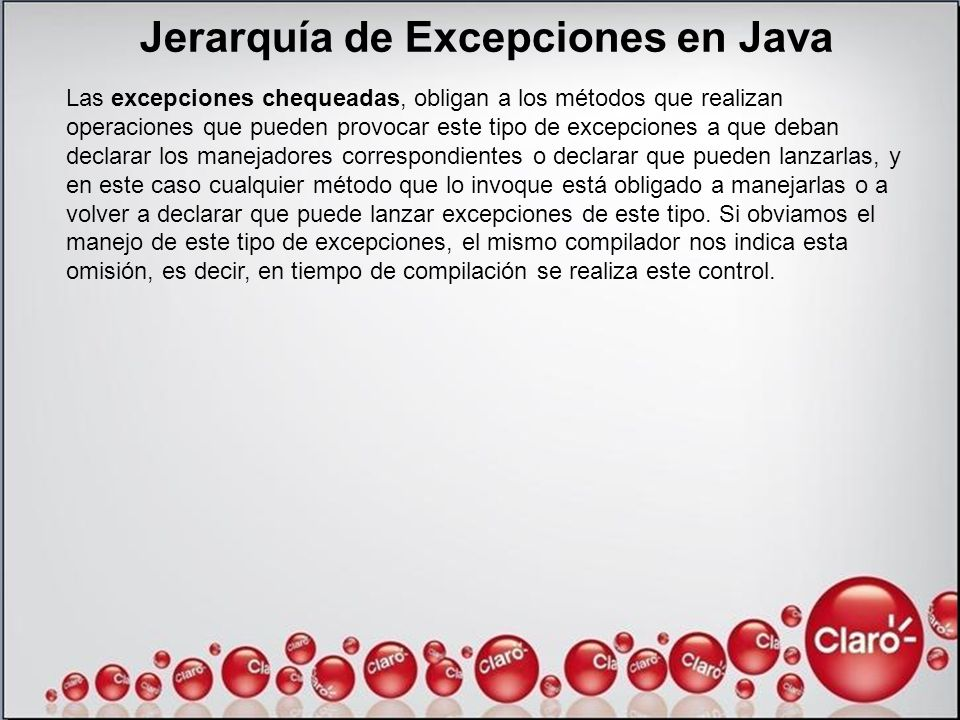 Jerarquía de Excepciones en Java