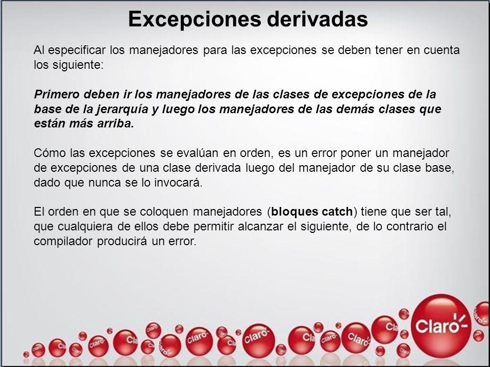 Excepciones derivadas