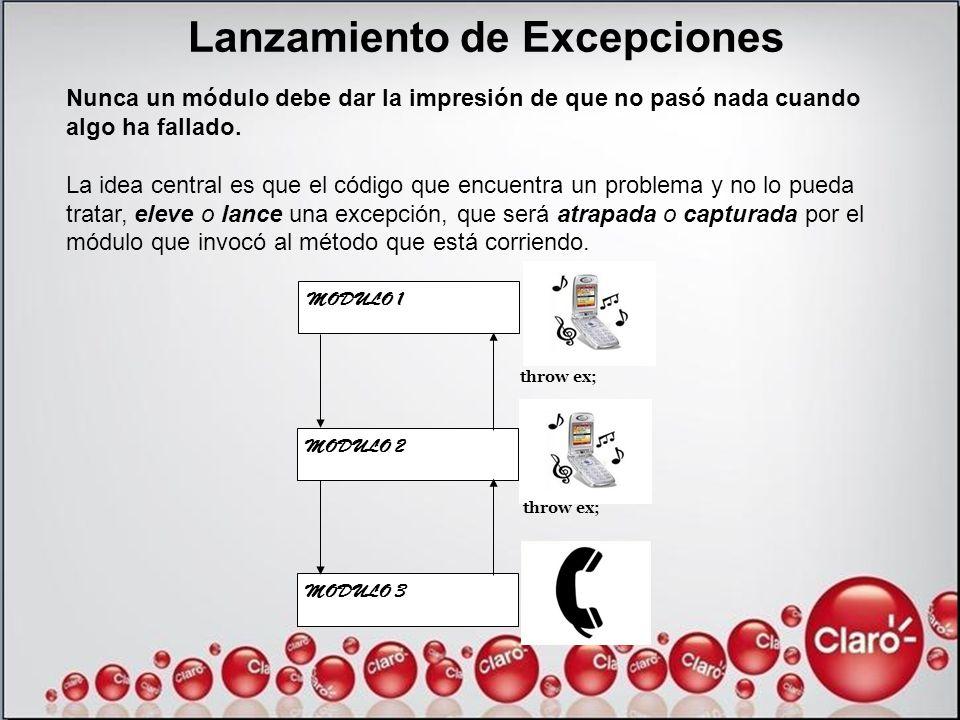 Lanzamiento de Excepciones