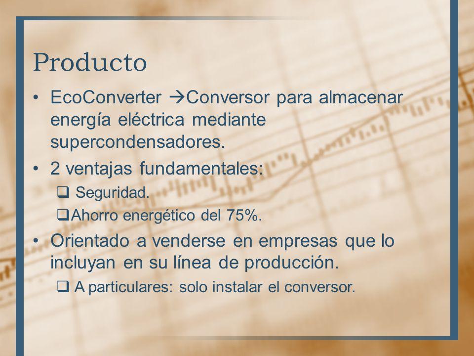 Producto EcoConverter Conversor para almacenar energía eléctrica mediante supercondensadores. 2 ventajas fundamentales: