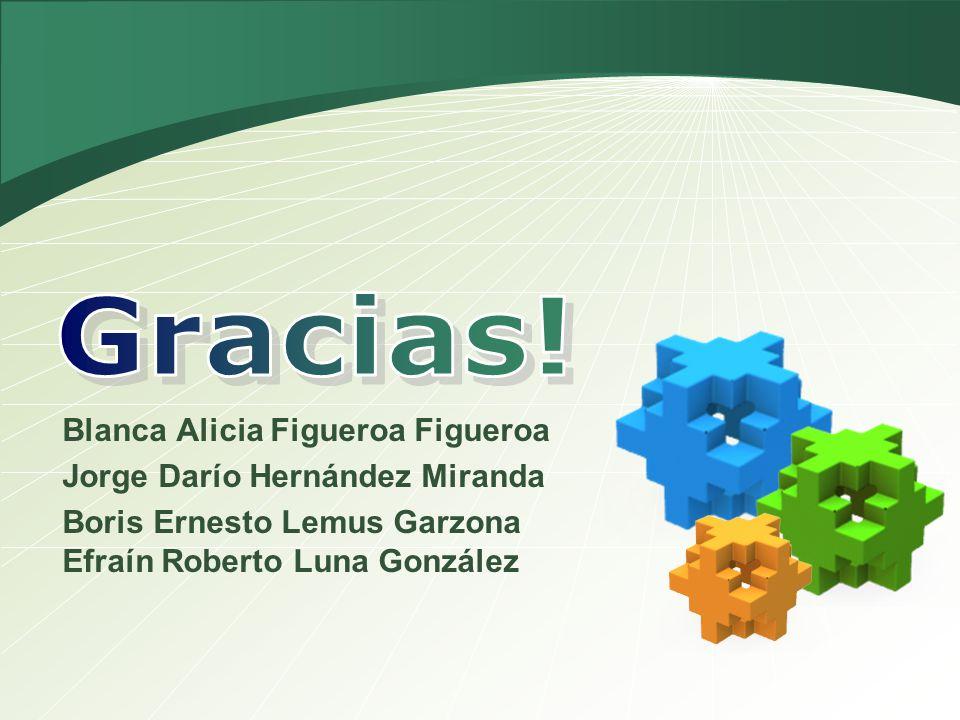 Gracias! Blanca Alicia Figueroa Figueroa Jorge Darío Hernández Miranda
