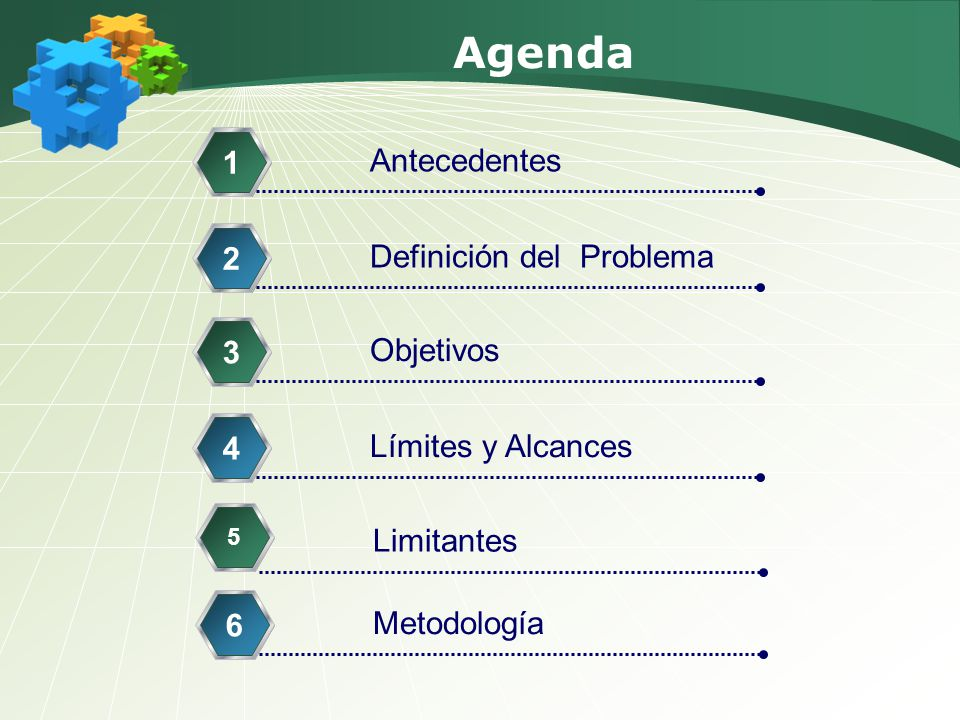 Agenda 1 Antecedentes 2 Definición del Problema 3 Objetivos 4