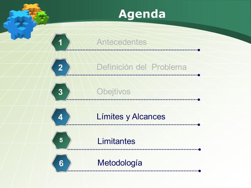 Agenda 1 Antecedentes 2 Definición del Problema 3 Obejtivos 4