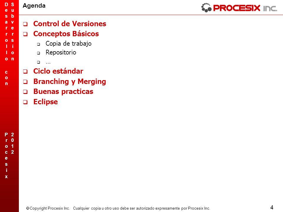 Control de Versiones Conceptos Básicos Ciclo estándar