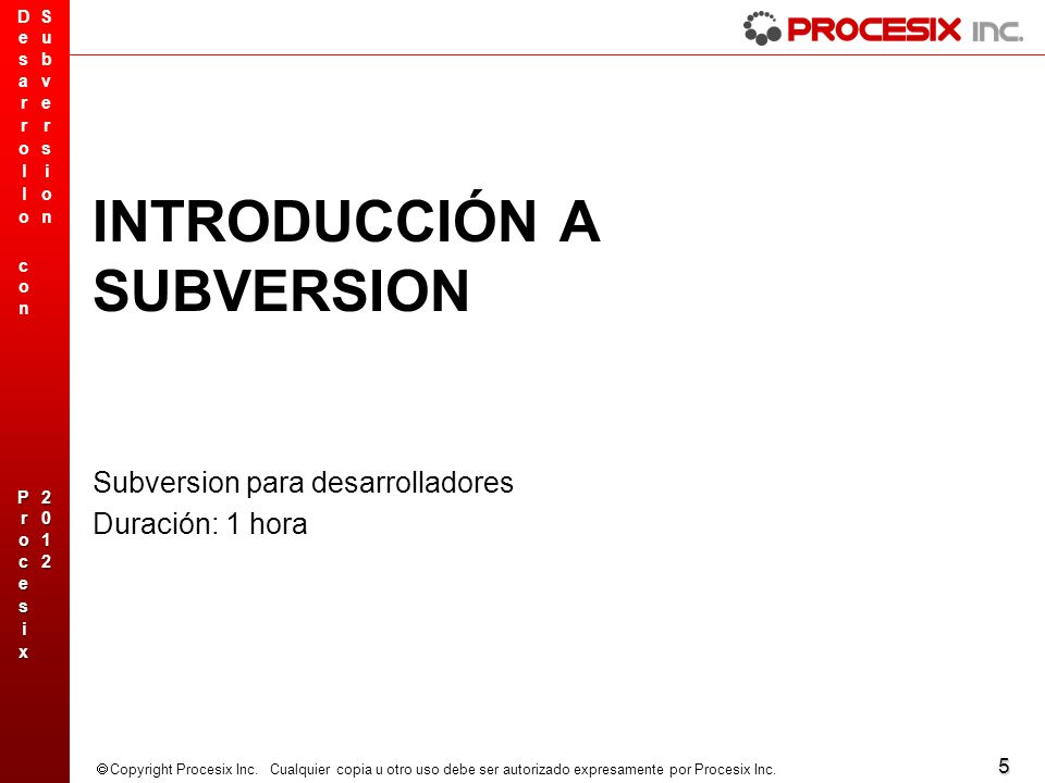 INTRODUCCIÓN A SUBVERSION