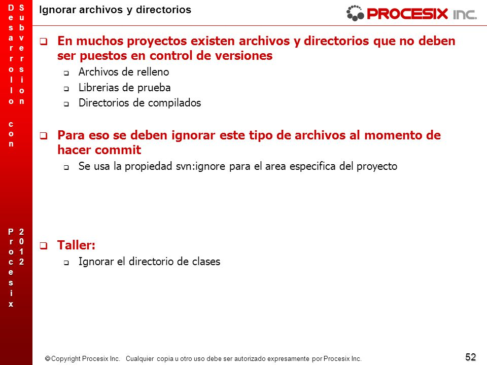 Ignorar archivos y directorios